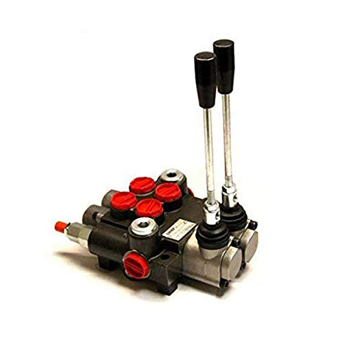 CHIEF G Series P40 Directional Control Valve: 2 Spool 4 Way 3 Position Spring Center, 21 GPM, 3625 PSI, SAE 10 Inlet and 10 Outlet Ports and SAE 10 Work Ports, 1500-3625 PSI Relief Setting, 220907