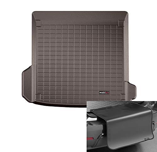 WeatherTech Vasca per Baule su Misura + Protezione Paraurti su Misura Compatibile per: Audi Q8 1°Gen 2018-19 - Cacao CargoLiner