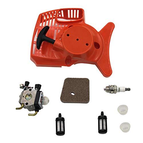 Cancanle Rückstoß Anlasser Vergaser Luft Kraftstoff Filter Kit für STIHL FS55 FS46 FS45 FS38 FC55 HL45 KM55 FS 55 Rasenmäher