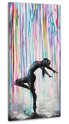 YS-Art | Acryl Gemälde Anmut | Handgemalte Leinwand Bilder | 115x50cm | Wandbild Acrylgemälde | Moderne Kunst | Leinwand | Unikat | Mehrfarbig