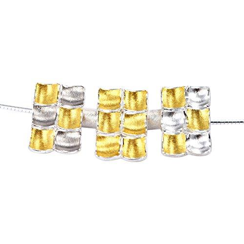 Mozaiku Halskette Eugen Steier Silber und Gold