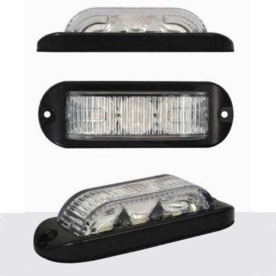 LED3DVA180 Electraquip Lampe de signalisation, de danger, stroboscope, d'avertissement 12/24 V 180 ° Ambre