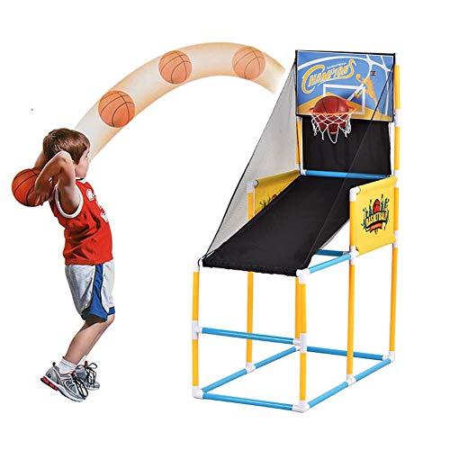 FXQIN Baloncesto Arcade Juego de Canastas de Baloncesto con Marcador Electrónico, 2 Balones Pequeños y Bomba de Aire,Tablero De Baloncesto Aro De Baloncesto con Red