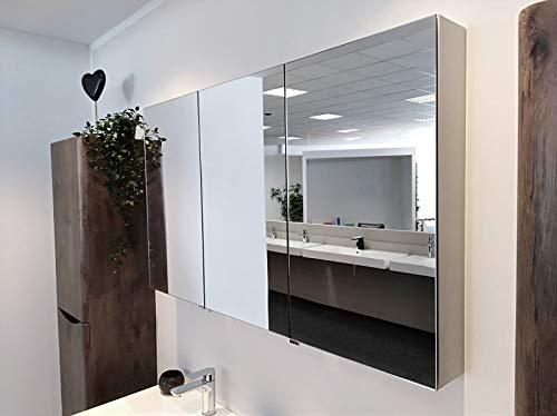 Aluminium-Spiegelschrank G1200