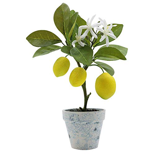 XiaZ Artificial Lemon Tree Plant Topiary, Potted Fake Plants Flower Home Party Garden Decoration