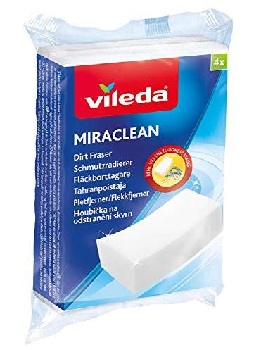 Vileda Miraclean Schmutzradierer - optimal zum Lösen von Schmutz auf harten Oberflächen (1x4 Stk.)
