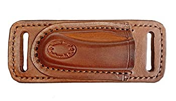WESTERN IMAGES LEATHERWORKS INC Horizontal Leather Knife Sheath for Buck 112 I m Right Handed  Cross Draw Carry Brown