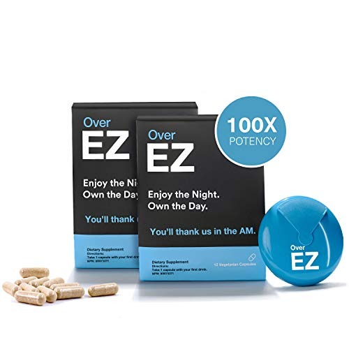Over EZ Hangover Cure and Hangover Prevention (24 Capsules)