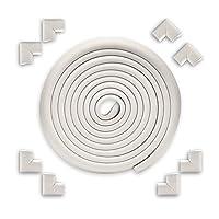 EYCFSJ コーナープロテクター 16.4フィートのエッジ+8コーナーセキュリティプルーフコーナープロテクター子供保護安全デスクテーブルバンパークッションテープホワイト付き