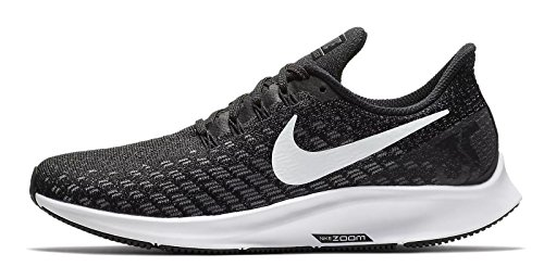 Nike Air Zoom Pegasus 35, Scarpe da Running Donna, Nero (Black/White/Gun Smoke/Oil Grey 001), 43 EU