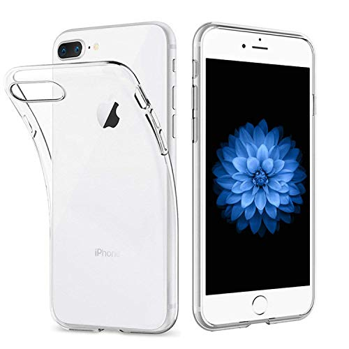 iPhone 7 Plus iPhone 8 Plus Hülle, Vkaiy iPhone 7 Plus iPhone 8 Plus Schutzhülle Transparent Handyhülle Crystal Clear Silikon Durchsichtig TPU Bumper Case für iPhone 7 8 Plus (5,5