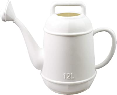 Watering Cans,European and American Plastic Watering can Large Capacity Watering Pot Household Watering can Long Mouth Gardening Small Shower@Double/_Handle/_Dark/_Green/_12L