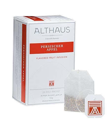 Althaus Deli Pack Persischer Apfel 20 x 2,5g ⋅ Früchtetee im klassischen Teeaufgussbeutel