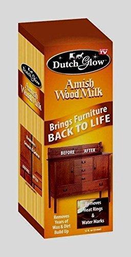 12oz Dutch Glow AMISH WOOD MILK Brings Back Restores Cleans Furniture TV DFG