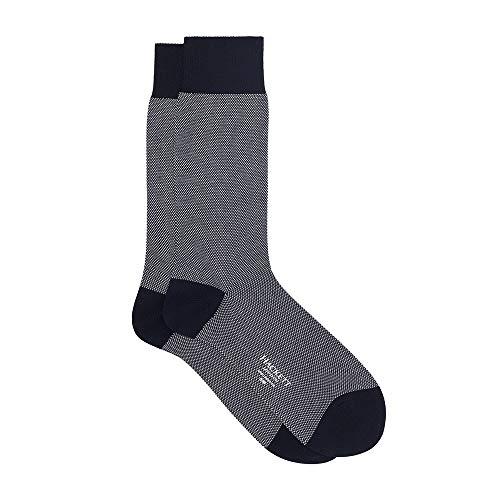 Hackett London Herren Socken Micro DOTS, Mehrfarbig (Navy/White 5dj), 43/46 (Herstellergröße: M/L)