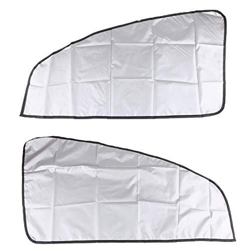 WYN 1 Paar magnetische Sonnenschutz-Vorhänge, doppelseitig, für schräge Fenster