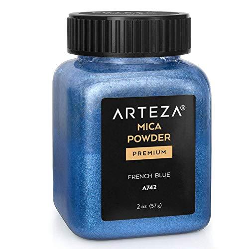 Arteza Mica Pulver Französisches Blau A742, Epoxidharz Farbe Pulver, 57g Flasche, Glimmerpulver in...