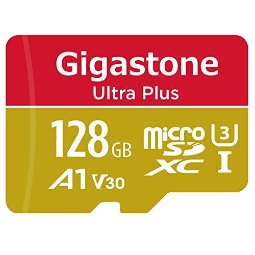 Gigastone Scheda di Memoria Micro SDXC da 128 GB, 4K Telecamera Pro Serie, A1 U3 V30, Velocità Fino a 100 50 MB s. (R W) con Adattatore SD. Per Telefono, Fotocamere Videocamera, Tablet, Gopro, Switch