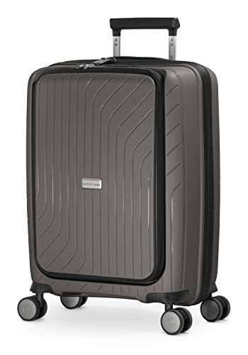 HAUPTSTADTKOFFER - TXL - Equipaje de Mano liviano, maletín con Compartimiento para portátil, Trolley rígido de Polipropileno Resistente, 55 cm, 40 L, Cierre TSA, Titan