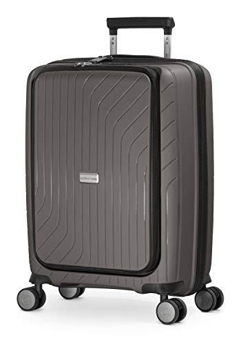 HAUPTSTADTKOFFER - TXL - Lightweight Carry-On Luggage with Laptop Bag, Sturdy Cabin Size Hardside Trolley, Polypropylene, 55 cm, 40 L, TSA, Titan