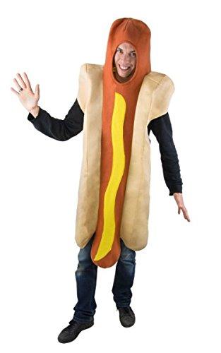 P'tit Clown 46054 Hot-Dog-kostuum voor volwassenen – eenheidsmaat – meerkleurig