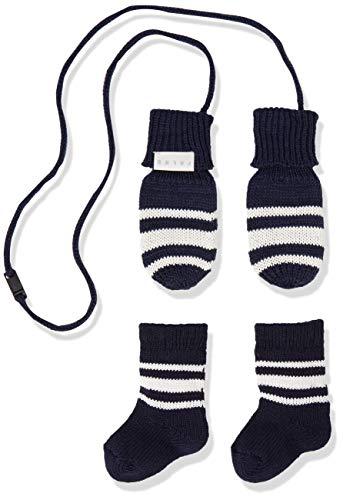 FALKE Baby Socken Baby Giftset - Baumwollmischung, 1 Paar, Blau (Marine 6120), Größe: 74-80