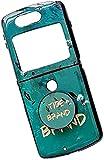Hülle für Motorola RAZR 5G Flip Phone, ultraflaches, stoßfestes Silikon-TPU mit rückseitiger Schutzhülle & Halterungsabdeckung (A)