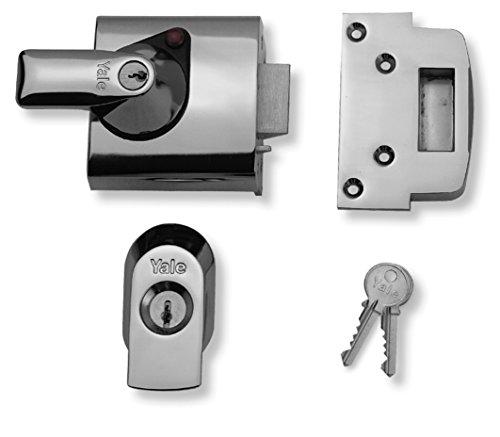 Yale Locks BS1 Verrou de sûreté Conforme aux normes britanniques Chrome Visi 60 mm (Import Grande Bretagne)