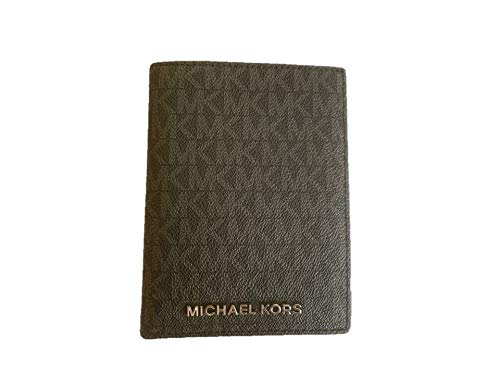 Michael Kors Jet Set Travel PVC Passport Case - Black (silver hardware)
