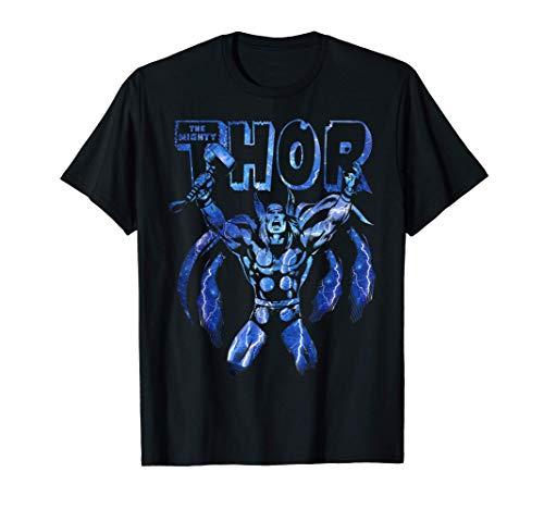Marvel Thor Classic Ride The Lightning Retro Camiseta