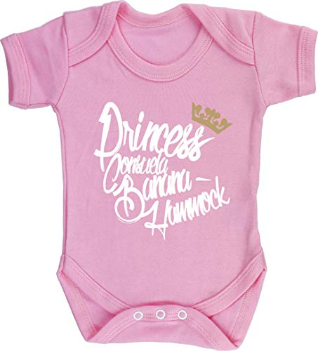Hippowarehouse Princess Consuela Banana Hammock Baby Vest Bodysuit (Short Sleeve) Boys Girls Light Pink