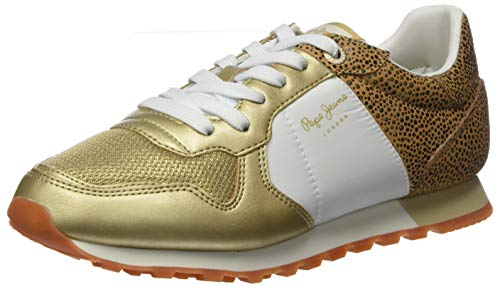 Pepe Jeans London Damen Verona W Set Sneaker, Gold (Cast 088), 41 EU
