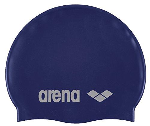 Arena Classic Gorro de Natación, Unisex Adulto, Azul (Denim/Silver), Talla Única