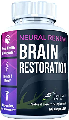 Nootropics and Smart Drugs Brain Supplement - Wellness Formula for Healthy Aging + Stress Relief and Energy with Pycnogenol, Ginkgo Biloba 120mg, Pterostilbene & More