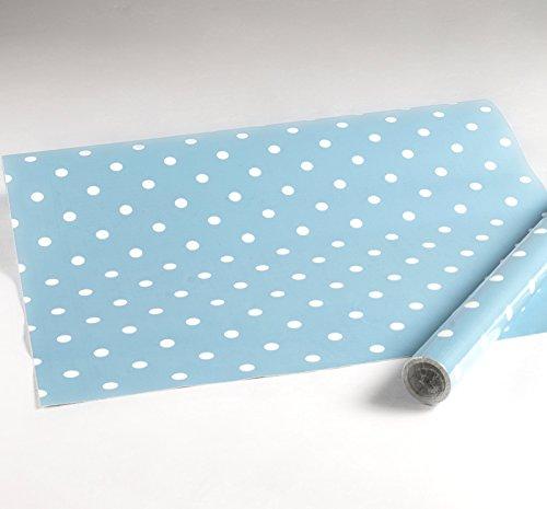 i.stHOME Klebefolie Dots Vintage hellblau, Möbelfolie Punkte Dekorfolie gepunktet 45x200 cm - Selbstklebende Folie Retro - Bastelfolie