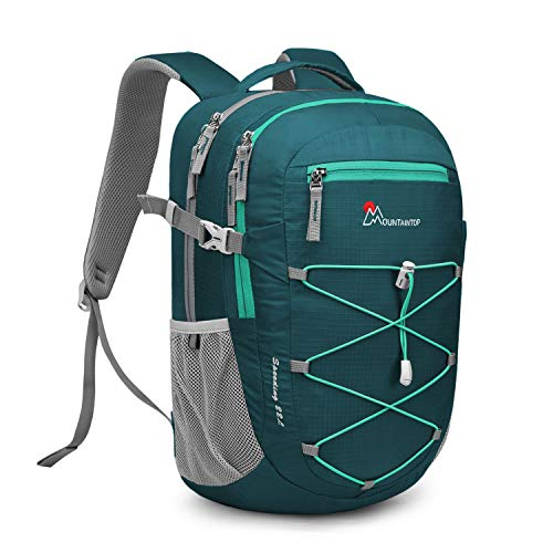 MOUNTAINTOP 22 Liter Rucksäcke Damen Herren Backpack Wanderrucksack Trekkingrucksack Outdoorrucksack Daypacks (Dunkelgrün-NEU)
