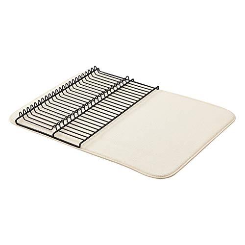 "Amazon Basics Large Drying Rack 18""x24"" Lino / Negro, con 2 tapetes"