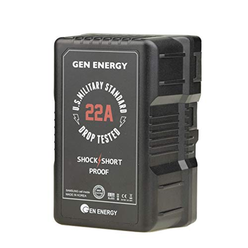 Gen Energy G-B100/290W 22A 14.4V Li-Ion V-Mount Shock Proof Battery