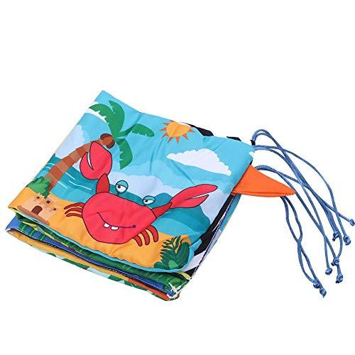 Libro de tela suave, libro de tela de cuna infantil Mi primer libro de ropa suave no tóxico Libro educativo de aprendizaje temprano El mejor regalo para su bebé(Tipo C)