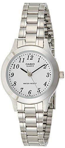 CASIO 19103 LTP-1128A-7BR - Reloj Señora Cuarzo Brazalete metálico Blanco