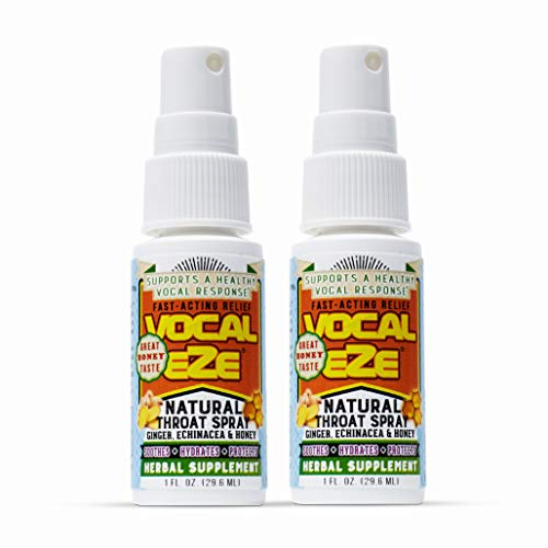 Vocal Eze Throat Spray | Relieve Sore, Hoarse, Fatigue, Dryness of Throat | Herbal Immune Support, All Natural Ingredients  (2)