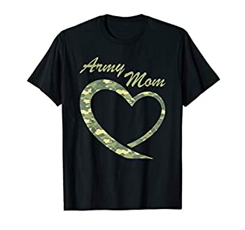 Proud Army Mom Shirt Gift Military Mother Camouflage Apparel T-Shirt