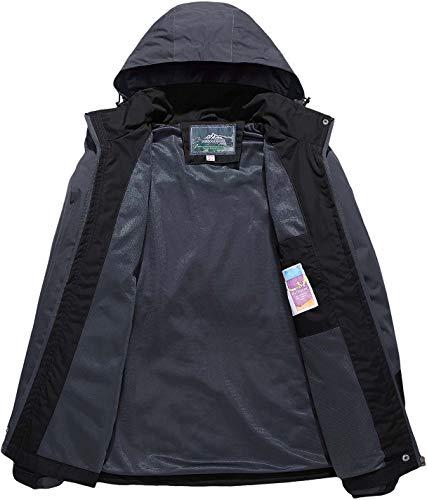 TACVASEN Women's Lightweight Waterproof Softshell Jacket Raincoat with Detachable Hood 2