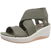 Clarks Step Cali Palm, Zapatillas para Mujer, Verde (Olive-), 40 EU
