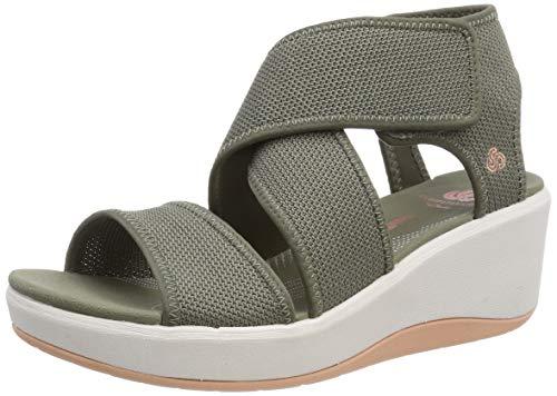 Clarks Step Cali Palm, Zapatillas Mujer, Verde (Olive-), 38 EU