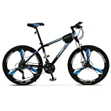 CDBK Off-Road Mountain Bike, 26 Inch 30-Speed Shiftable Bicycle Student Double Disc Brake Racing, Unisex Urban Adult Bicycle Blue