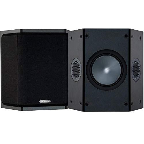 Monitor Audio Bronze FX 6G | Farbe: Schwarz | Surround-Lautprecher | Paar | Heimkino | 2-Wege | 8 Ohm | 80 Watt | Dipol/Bipol | Geschlossenes Gehäuse | Passiv