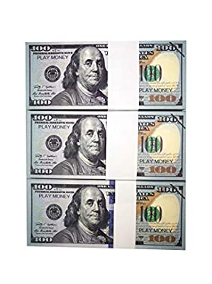 UIKMMG Movie Prop Money 100 Dollar Bills,Realistic Money That Looks Real for Movie,Viedio,Teaching and Birthday Party by TYQIOP