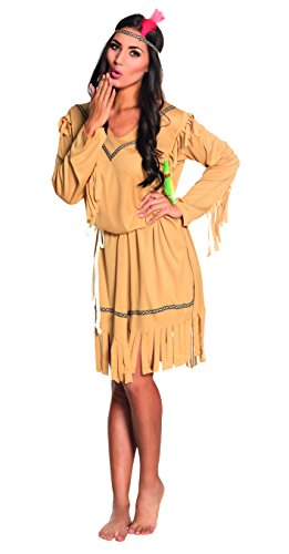 Boland- Indiana Squaw Costume Donna per Adulti, Beige, M, 83813