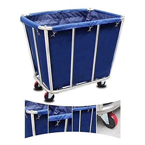 CENPEN Sombrilla Azul de Altas Prestaciones del Hotel lavandería Clasificador Carrito con Ruedas, Robusto Vestíbulo Lino Cesta con Tapa Desmontable, 125 kg Capacidad de Carga